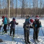 Лыжня приветливо втретила участников праздника Лыжня Деда Мороза