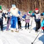 В забеге принял участие сам Дед Мороз